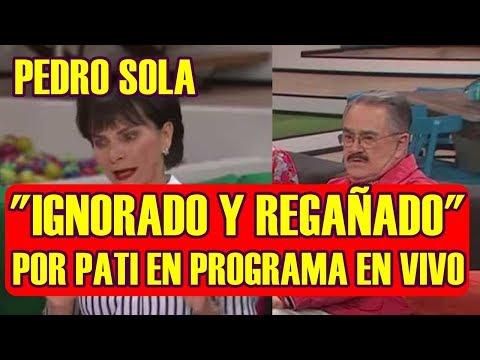 PEDRO SOLA es IGNORADO y REGAÑADO por PATI CHAPOY durante PROGRAMA en VIVO