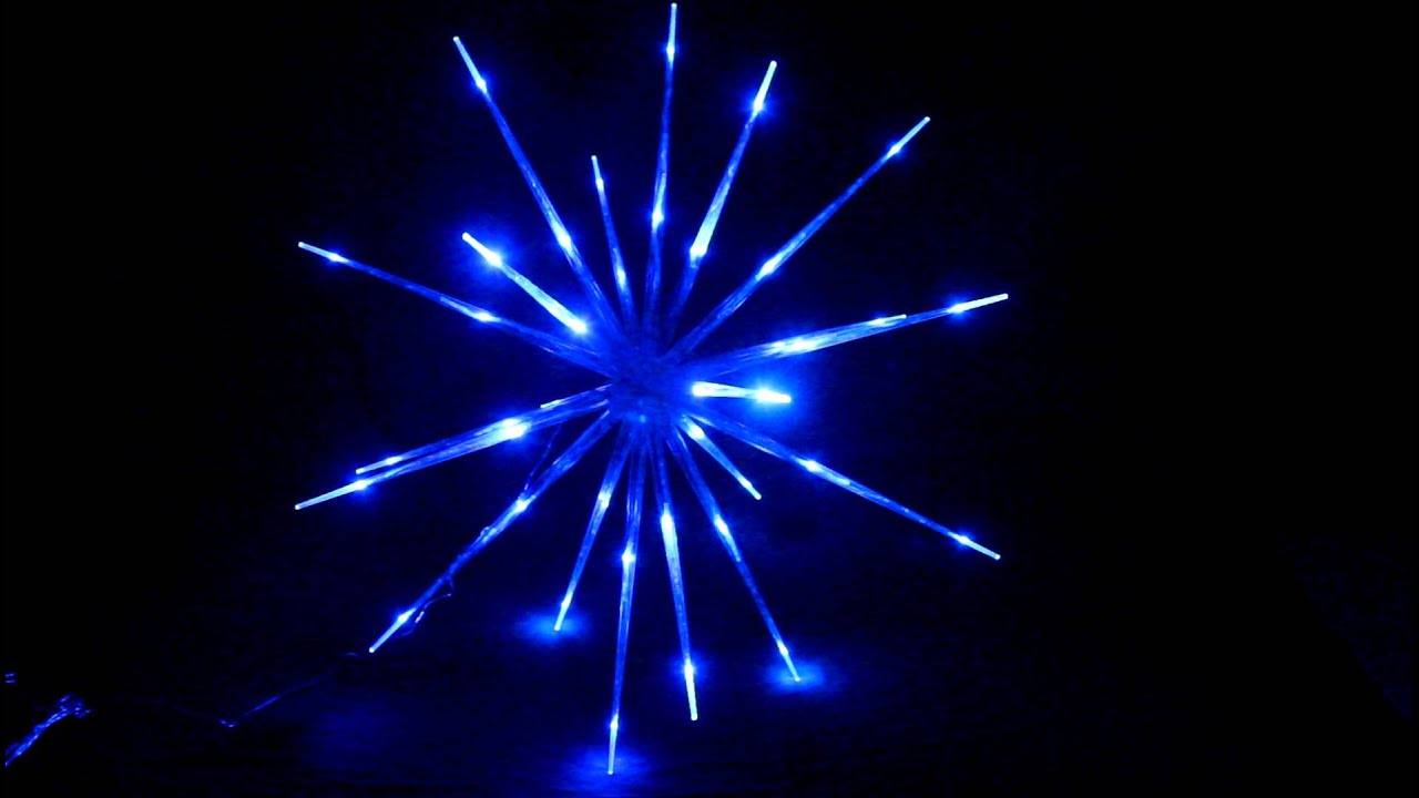 vickysuncom blast ice star ball led blue christmas lights youtube
