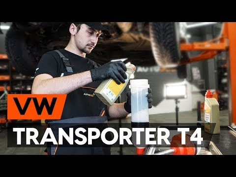 How To Replace Transmission Oil Gear Oil On VW TRANSPORTER