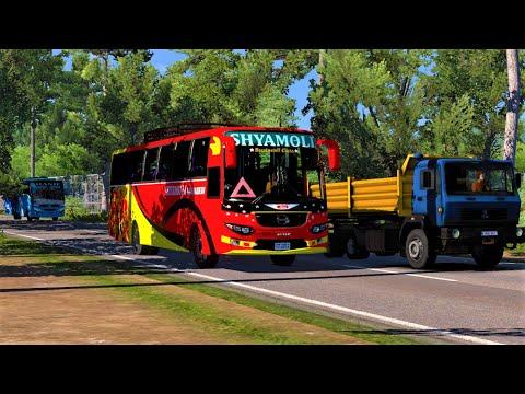 #RouteRequest Rangpur to Dhaka   Shyamoli Paribahan   Hino AK 1J Super Plus   Non AC