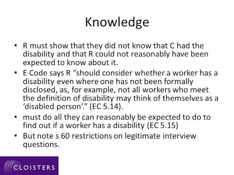 Discrimination and unlawful acts under the Equality Act 3 DAFD