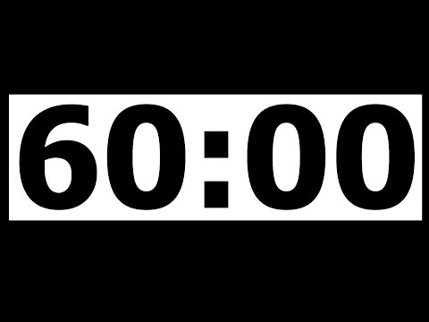 60 Minute Countdown Timer with Alarm