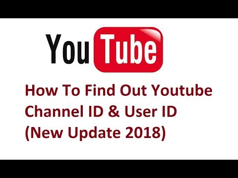How To Find Out Youtube Channel ID & User ID (New Update
