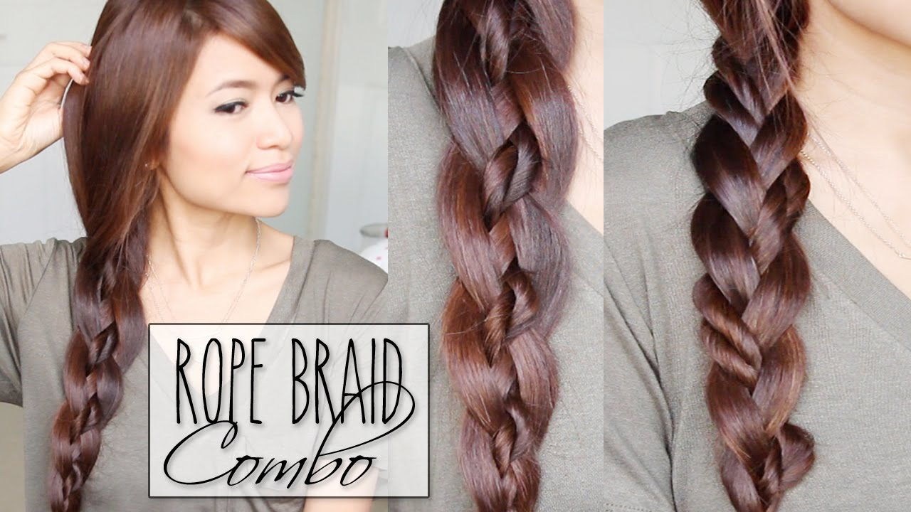 4 Strand Braid Rope Braid Combo Hairstyles Hair Tutorial Youtube