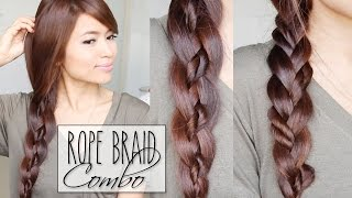 Rope Twist Braid Combo Hairstyles | Hair Tutorial Thumbnail