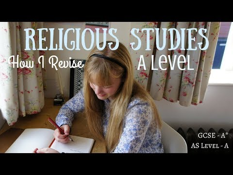 How I Revise for Religious Studies    A Level Study Tips (A grade at AS Level)