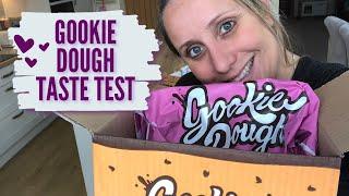 GOOKIE DOUGH TASTE TEST | GOOKIE DOUGH UNBOXING | COOKIE DOUGH