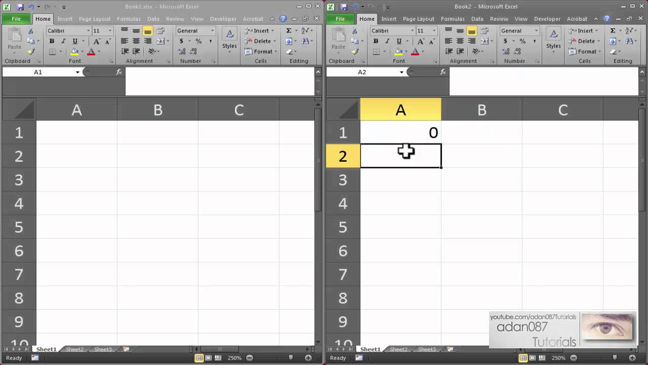 Excel link two excel files - YouTube