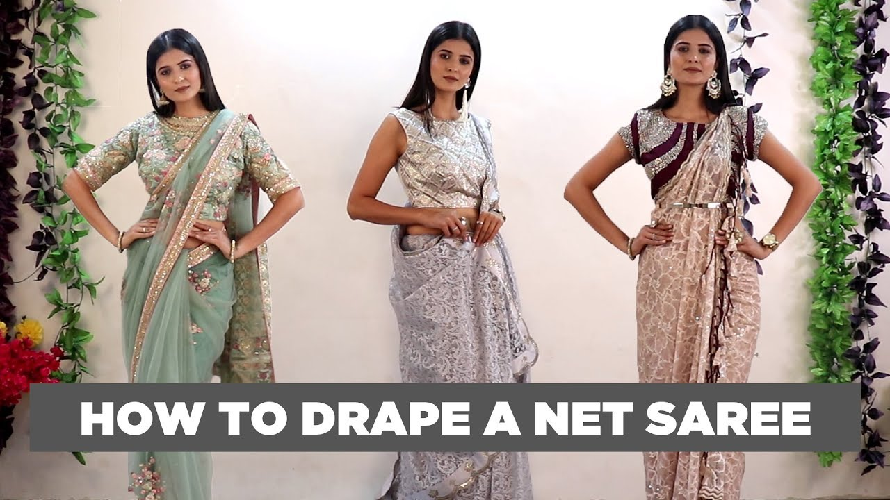 Draping styles images saree 350+ Latest