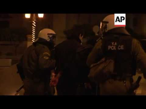 Unrest continues into the night in Greek capital