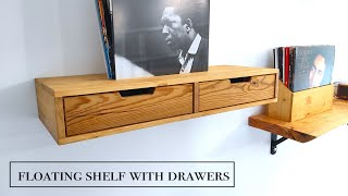 Floating shelf with drawers - Mensola con cassetti