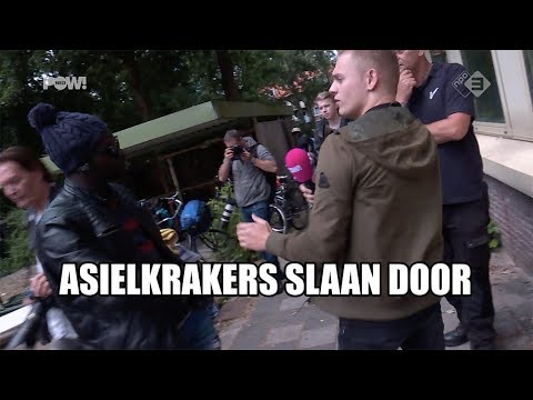 Gewelddadig vertrek asielkrakers 'We Are Here'