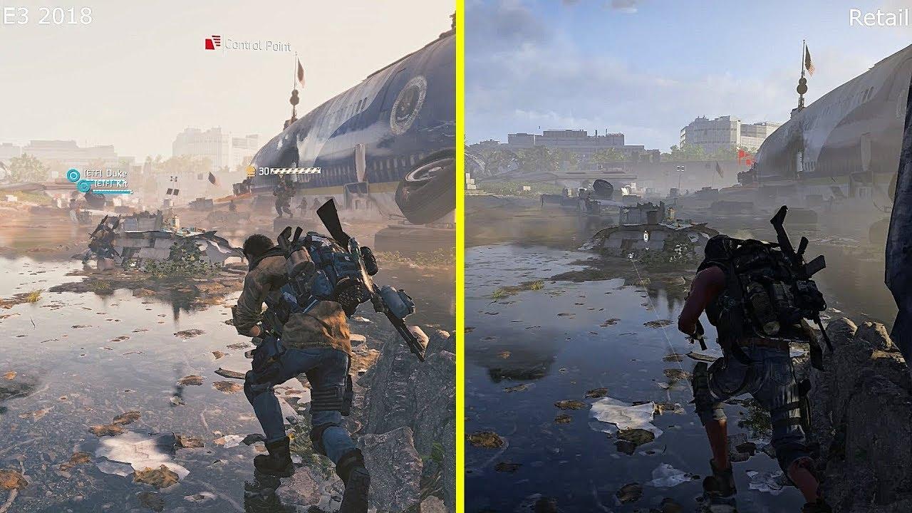 The Division 2 E3 2018 Demo vs Retail Xbox One X Graphics Comparison