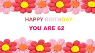 Birthday 62 62 years old birthday postcards postales m4hsunfo