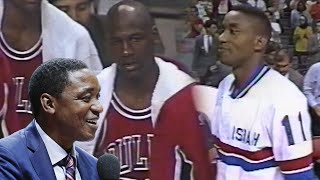 The Day the 'Bad Boys' Pistons Walked Out of the game vs Bulls.1991 NBA East Finals highlights