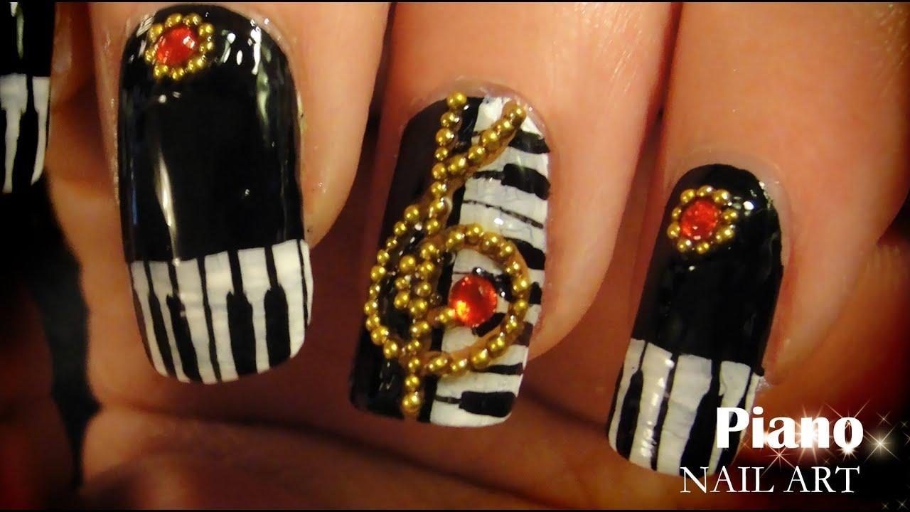 Piano nail art youtube prinsesfo Images