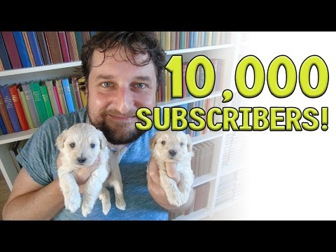 10,000 subscribers! (+ puppies + email from a JW) - Cedars vlog no. 131