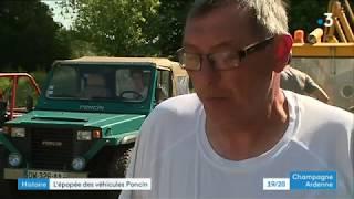 Rassemblement de Poncin, ces voitures à 6 ou 8 roues, dans les Ardennes