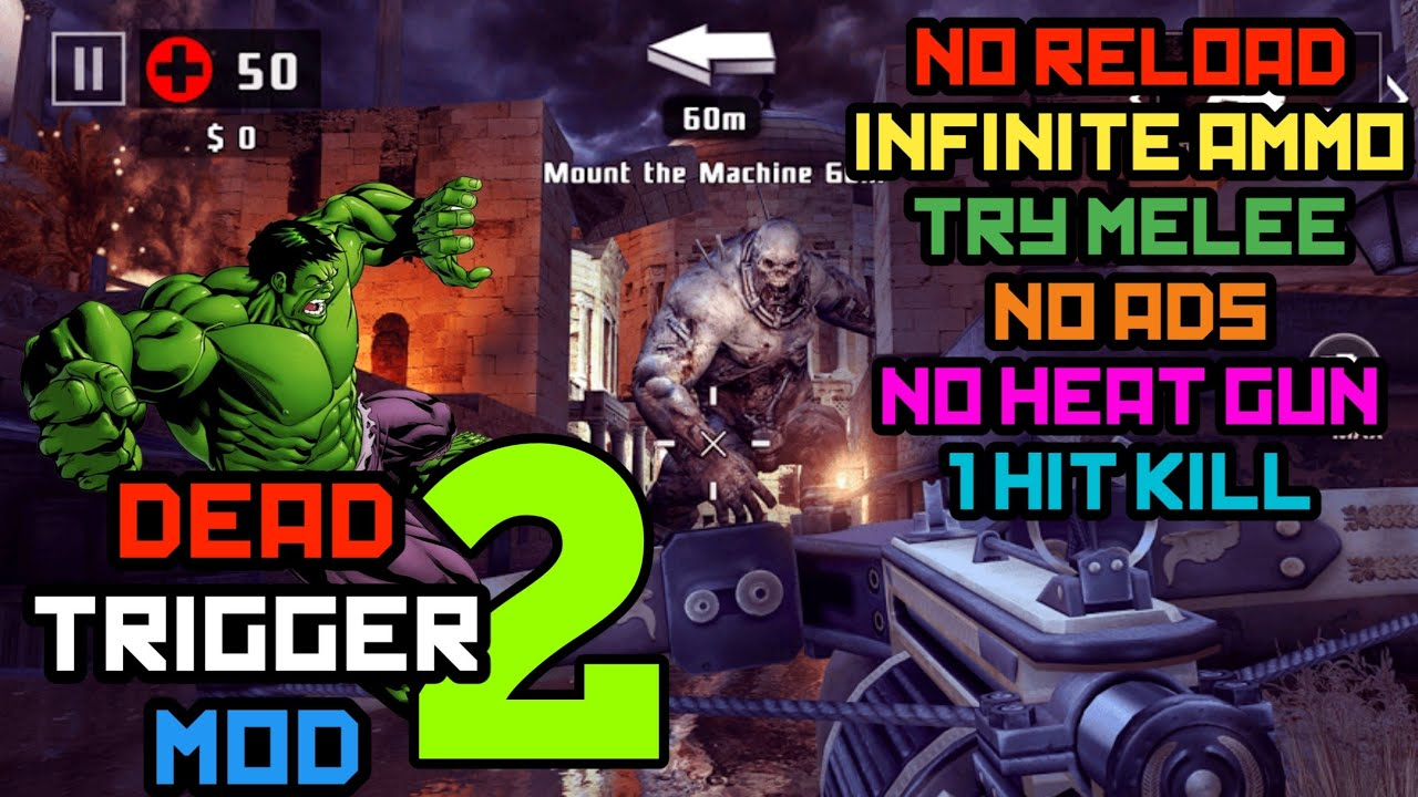 Dead Trigger 2 1 3 3 Mod Infinite Ammo Try Melee No Reload No Ads
