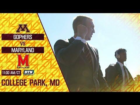Gophers at Maryland: Saturday at 11am on BTN