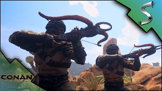 IMP CAVE & CROSSBOWS! CORRUPTION! - Conan: Exiles [Multiplayer Gameplay E3]