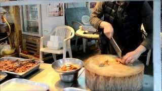 Hong Kong Chinese Food. Cutting And Preparation Of Chicken Feet And Wings. Street Food