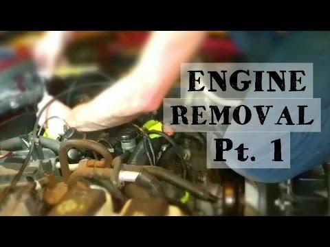 Ford Ranger Engine Removal Time lapse Pt.1