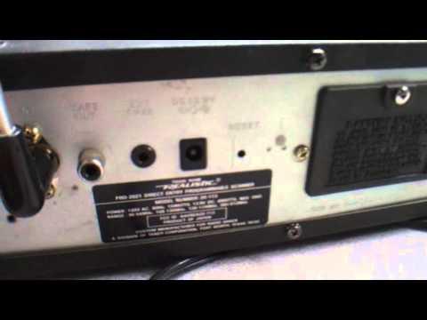 Radio Shack 200 Channel Pro 2021 Programmable Scanner