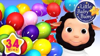 Color Balloon Song | Plus Lots More Nursery Rhymes | 34 Minutes Compilation from LittleBabyBum!