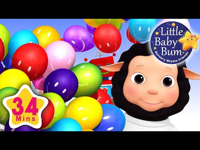 Color Balloon Song   Plus Lots More Nursery Rhymes   34 Minutes Compilation from LittleBabyBum!