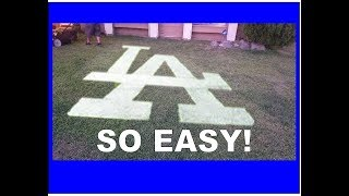 How to make an LA Dodgers sign on your lawn!!