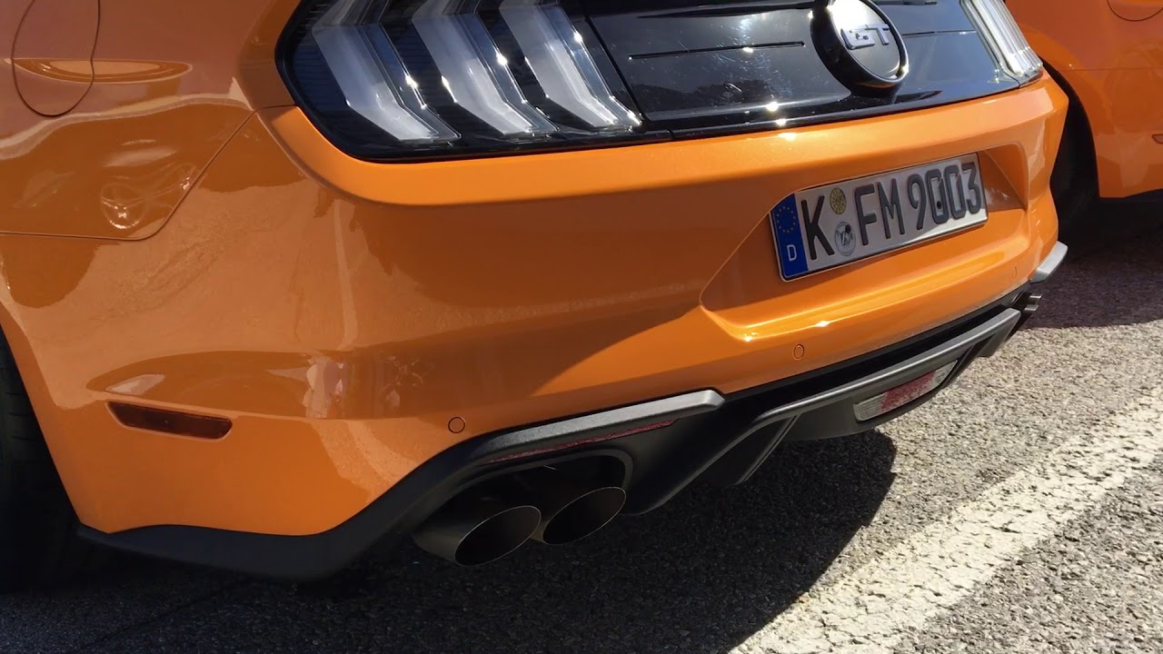 2018 ford mustang gt european version start up sound