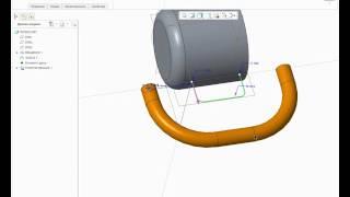 видео доступное обучение CREO протягивание постоянного сечения