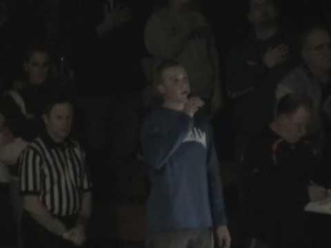 Mickey Inns singing National Anthem