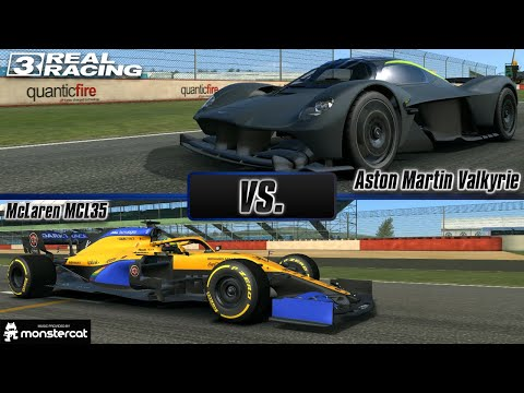 Real Racing 3: Aston Martin Valkyrie vs. McLaren MCL35 | Silverstone GP | Road Car vs. F1 Car