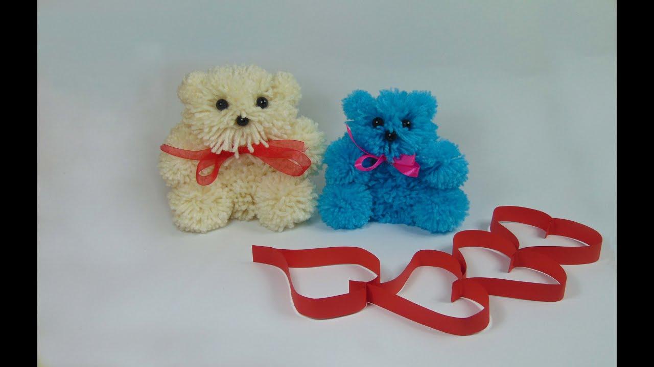 Hacer un osito de lana para san valentin youtube for Manualidades para ninos con lana
