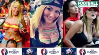 Uefa euro 2016 sexy fans in stadium