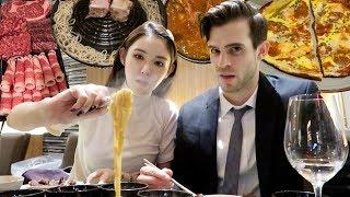 미국인 남친 생일 기념 한국음식 6인분  먹방   롭이를 위한 일곱 가지 생일 선물🎁 (맨해튼에서 대박 난 부산 식당!)   장이나 Jang E Na