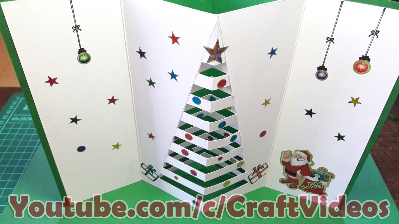 How to make Christmas Cards for Kids 2018, Pop Up christmas greeting ...