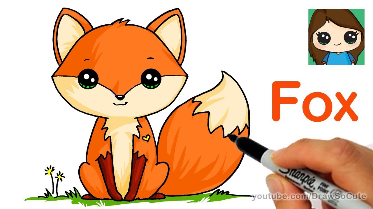How to Draw a Cute Fox Easy YouTube