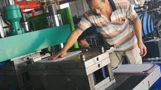 [TAIWANG] With Sliding Table Vertical Injection Machine for Plastic Cutting Board Making
