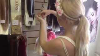 видео Искусственные волосы на заколках