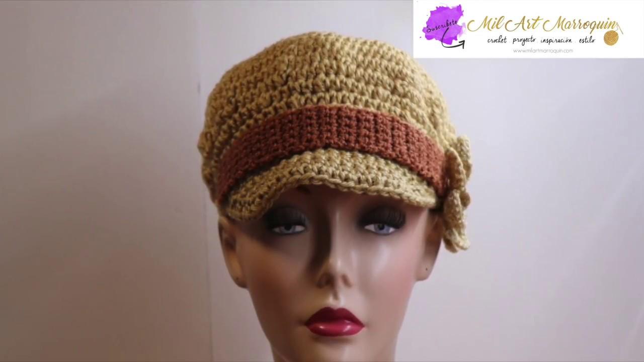 b2eaf50b167f6 Gorra Crochet con Visera - YouTube