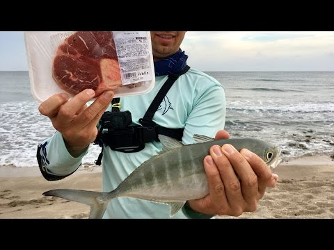 Grocery Store Fishing Challenge -- SALTWATER Edition!!! (ft. BlacktipH)