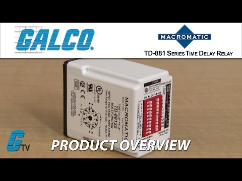 Macromatic TD 881 Series Timing Relays - YouTube on delay timer relay, macromatic alternating relay, abb alternating relay, macromatic phase monitor relay,