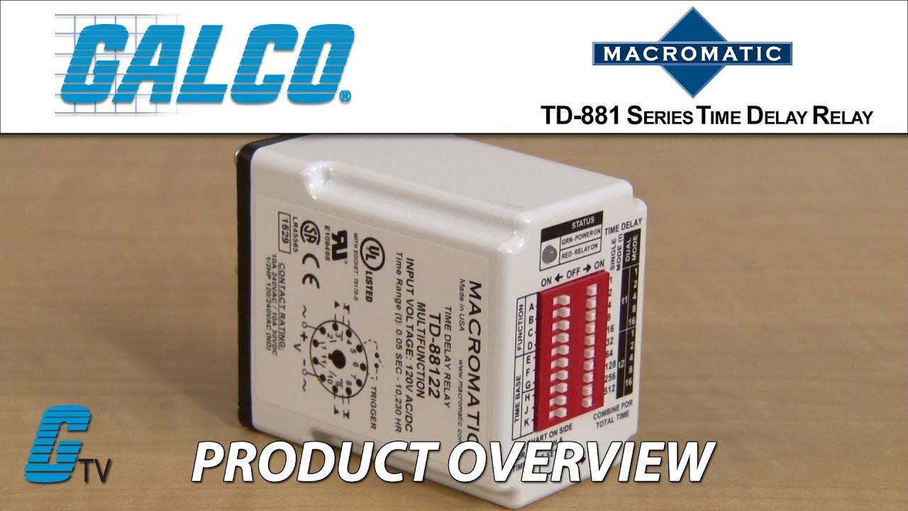 Macromatic TD 881 Series Timing Relays on