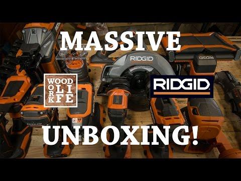 MASSIVE RIDGID TOOL UNBOXING! 2017 Gen 5x Cordless Brushless Tools