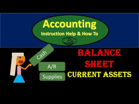 300 Balance Sheet Current Assets from Trial Balance