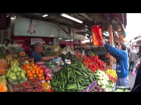 The Carmel Market, Tel Aviv, Israel - endless variety of fruits and vegetables