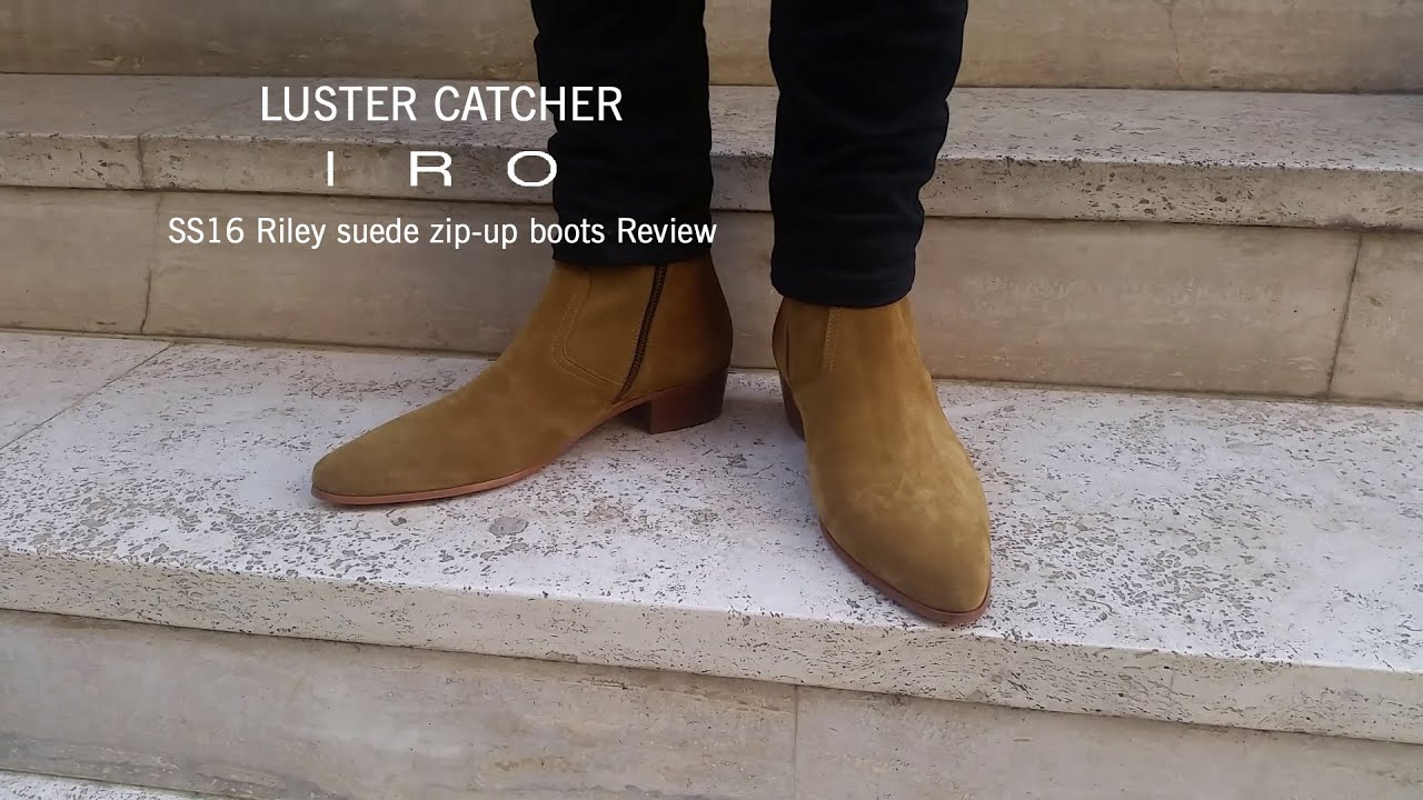 b7d36bea99b Iro SS16 Riley suede zip-up boots review